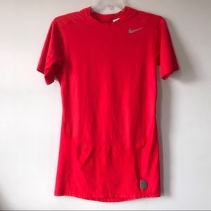 Nike Pro Dri-Fit Mens Red Compression Shirt